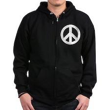 Peace Symbol Zip Hoodie