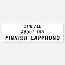 about the Finnish Lapphund Bumper Bumper Bumper Sticker