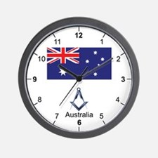 Australian Masons Wall Clock