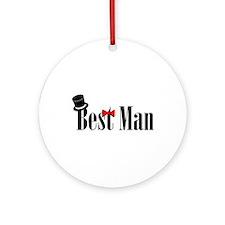 Best Man Ornament (Round)