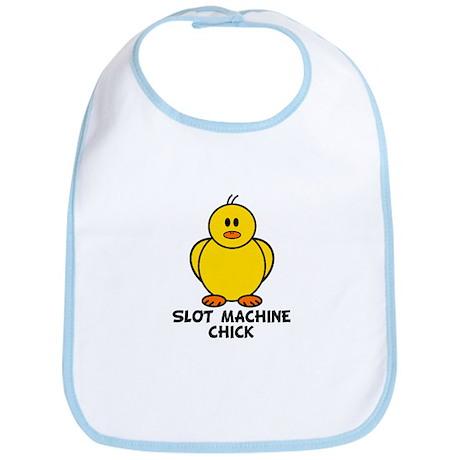 Slot Machine Chick Bib