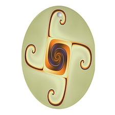 Emblem Fractal Art Oval Ornament