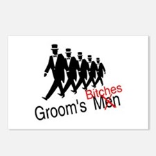 Groom's Bitches Postcards (Package of 8)