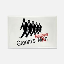 Groom's Bitches Rectangle Magnet