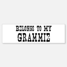 Belongs to Grammie Bumper Bumper Bumper Sticker