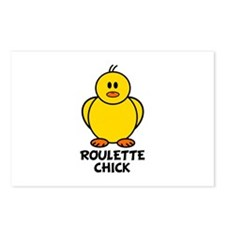 Roulette Chick Postcards (Package of 8)
