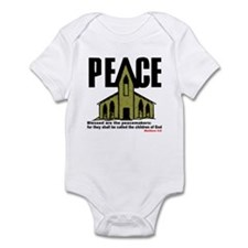 Peace, Church & Matthew 5:9 Infant Creeper