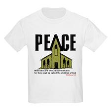 Peace, Church & Matthew 5:9 Kids T-Shirt