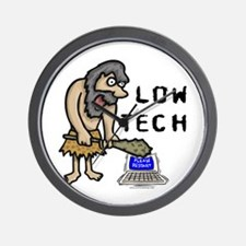 Low Tech Caveman Wall Clock