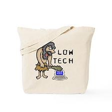 Low Tech Caveman Tote Bag