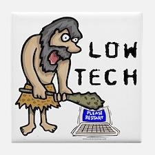 Low Tech Caveman Tile Coaster