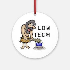 Low Tech Caveman Ornament (Round)