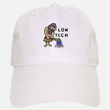 Low Tech Caveman Baseball Baseball Cap