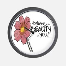 Believe in the Beauty Wall Clock