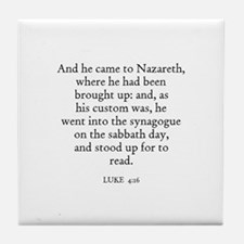 LUKE  4:16 Tile Coaster