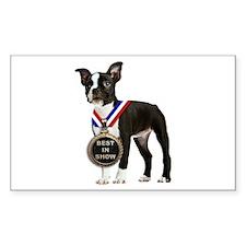 Best Boston Terrier Rectangle Decal
