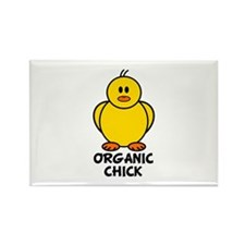 Organic Chick Rectangle Magnet