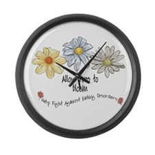 Allow Lives to Bloom Large Wall Clock