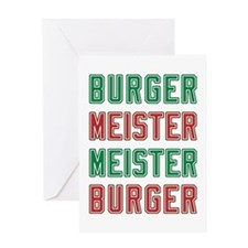 Burger Meister Meister Burger Greeting Card