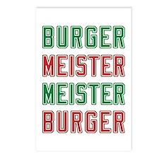 Burger Meister Meister Burger Postcards (Package o