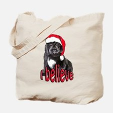 Christmas Newf puppy Tote Bag