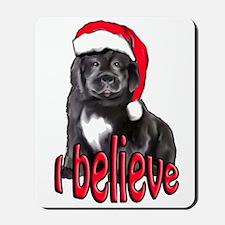 Christmas Newf puppy Mousepad