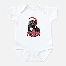 Christmas Newf puppy Infant Bodysuit