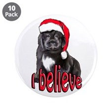 """Christmas Newf puppy 3.5"""" Button (10 pack)"""