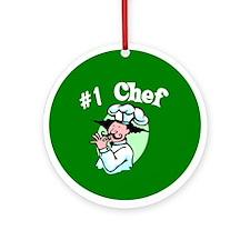 #1 Chef Ornament (Round)