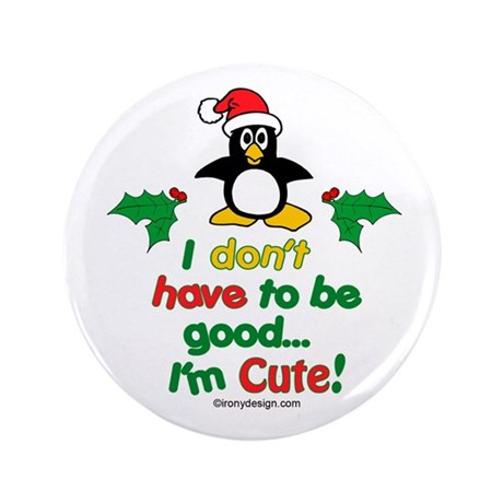 "I'm Cute! Penguin 3.5"" Button (100 pack)"