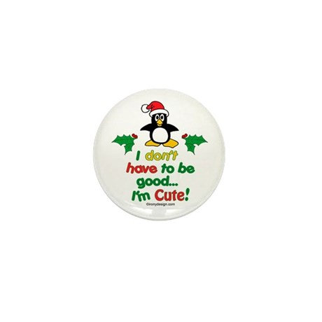 I'm Cute! Penguin Mini Button (100 pack)