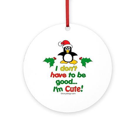 I'm Cute! Penguin Ornament (Round)