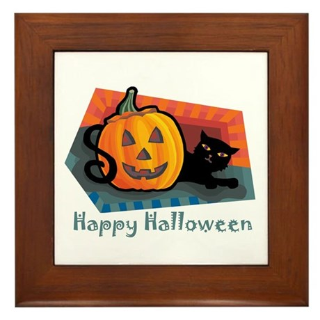 """""""Happy Halloween"""" Framed Tile"""