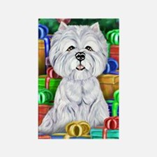 Westie Christmas Rectangle Magnet