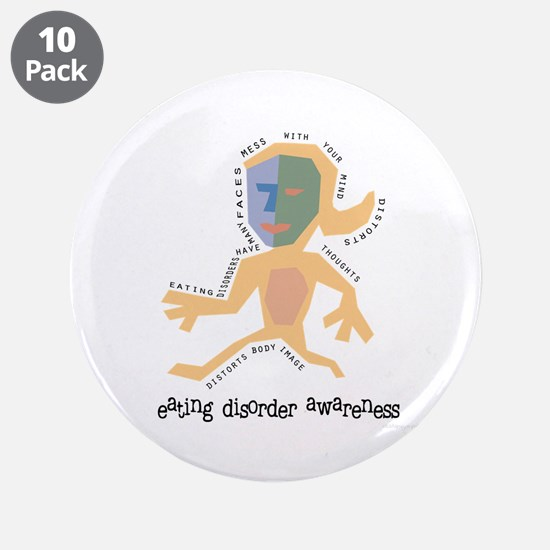 "Distorted 3.5"" Button (10 pack)"