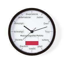 Polish Language Wall Clock