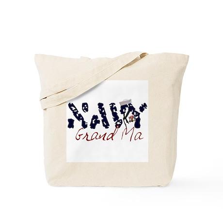 Navy Grandma Tote Bag