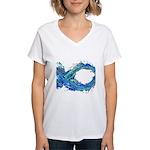 Electro-Fish Women's V-Neck T-Shirt