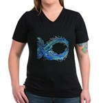 Electro-Fish Women's V-Neck Dark T-Shirt