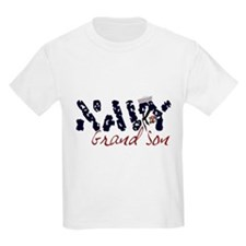 Navy Grandson Kids T-Shirt