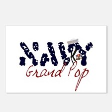 Navy Grand Pop Postcards (Package of 8)