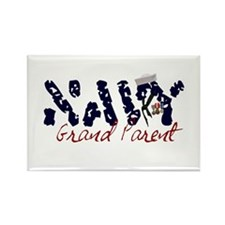 Navy Grandparent Rectangle Magnet