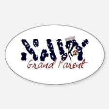 Navy Grandparent Oval Decal