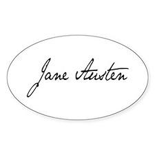 Jane Austen Oval Decal