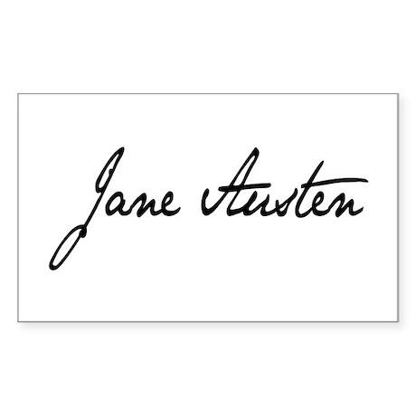 Jane Austen Rectangle Sticker
