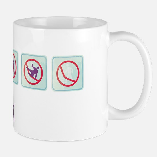TC No Walking Sign Mug