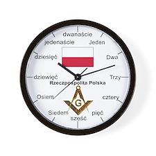 Polish Language Masons Wall Clock