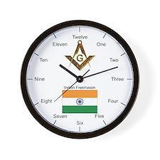 Indian Masons Wall Clock