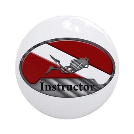 Dive Instructor Oval Ornament (Round)