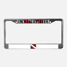 Dive Instructor License Plate Frame
